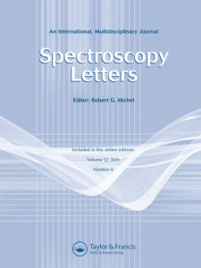 Spectroscopy letters Journal Published by Taylor & Francis